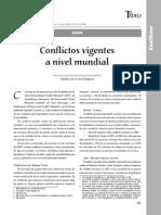 Conflictos Vigentes a Nivel Mundial
