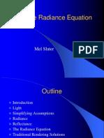 Radiance Equation