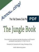 Drama Club Announcement