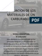 Evaluacion de Los Materiales de Un Carburador