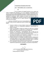 Carta Responsiva de Seguridad Estructural Proy 11 en Brisas Del Golfo