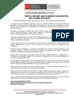 POLICÍA PRESENTÓ A MUJER QUE CONFESÓ SECUESTRO DE LA NIÑA BAYOLET