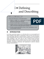 15152905 Topic 1 Defining and Describing