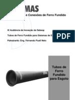 Tubos de Ferro Fundido Para Sistemas de Esgoto 01
