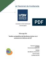 Monografá. Cambios Sociales y Políticos durante la Reforma del 18'