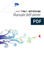 Manuale d'Uso Tablet GT-P3100
