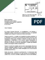 Proyecto Ley Organica Electoral