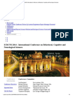 ICBCNS Madrid 2014_ International Conference on Behavioral, Cognitive and Neurological Sciences
