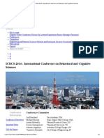 ICBCS Tokyo 2014_ International Conference on Behavioral and Cognitive Sciences