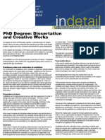 PhD Degree Dissertation and Creative Works