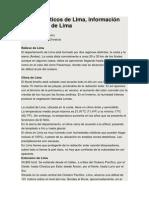 Datos turísticos de Lima 2013