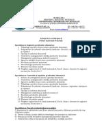 Tematica Si Bibliografie Licenta 2013