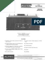 Altec Lansing 1594-B Owners Manual