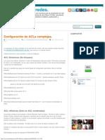 Soluciones en redes._ Configuración de ACLs complejas.
