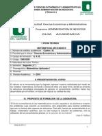 Guia Academ Matematicas Aplicada II 2010 2