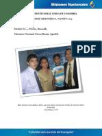 Informe Misionero a Agosto 2013 - Pereira Risaralda - Distrito 4