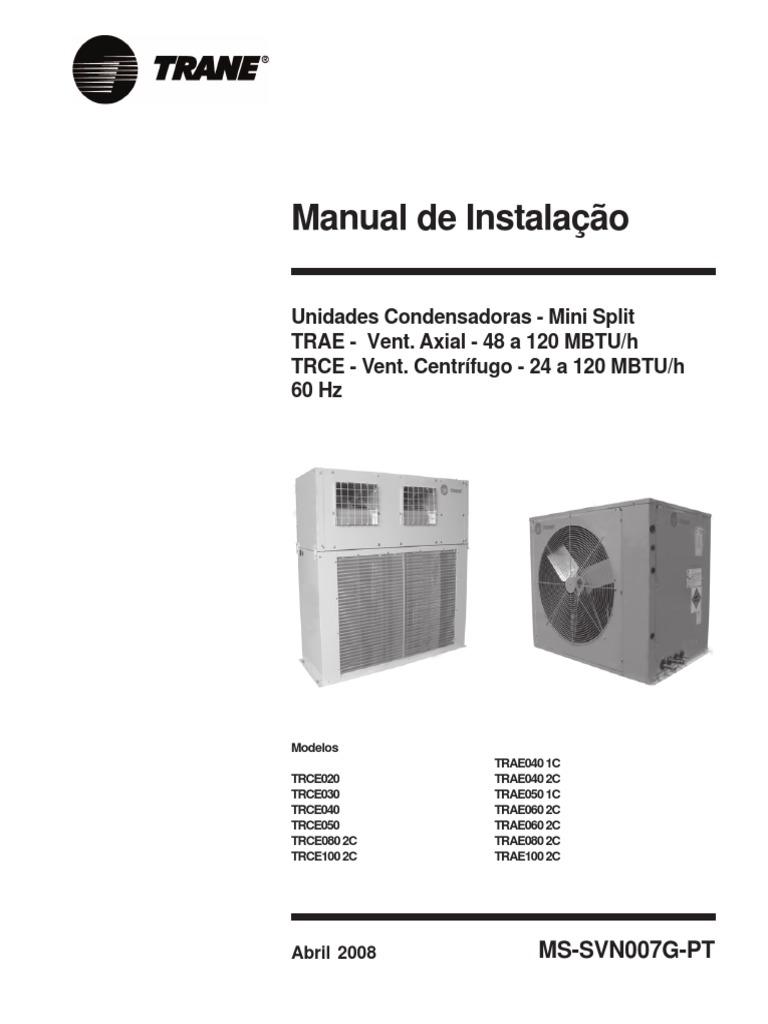 Trane manual de instalao trae e trce fandeluxe Gallery