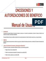 Concesiones y Autorizac. de Beneficio - Manual de Usuario - V01_2