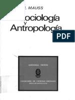 MAUSS, M. Sociologia Y Antropologia