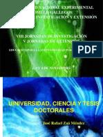 Universidad, Ciencia y Tesis Doctorales