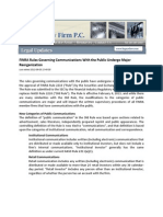FINRA Rules Governing Communications With the Public Undergo Major Reorganization - Sept 3, 2012