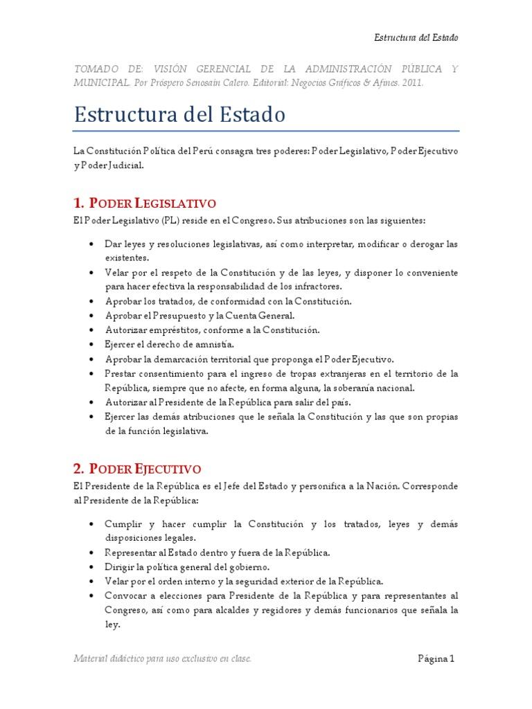 Material De Estudio Estructura Del Estado