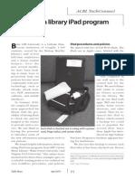 Setting-up a library iPad Program