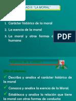 Unidad II  Tema Carácter Hist. Moral