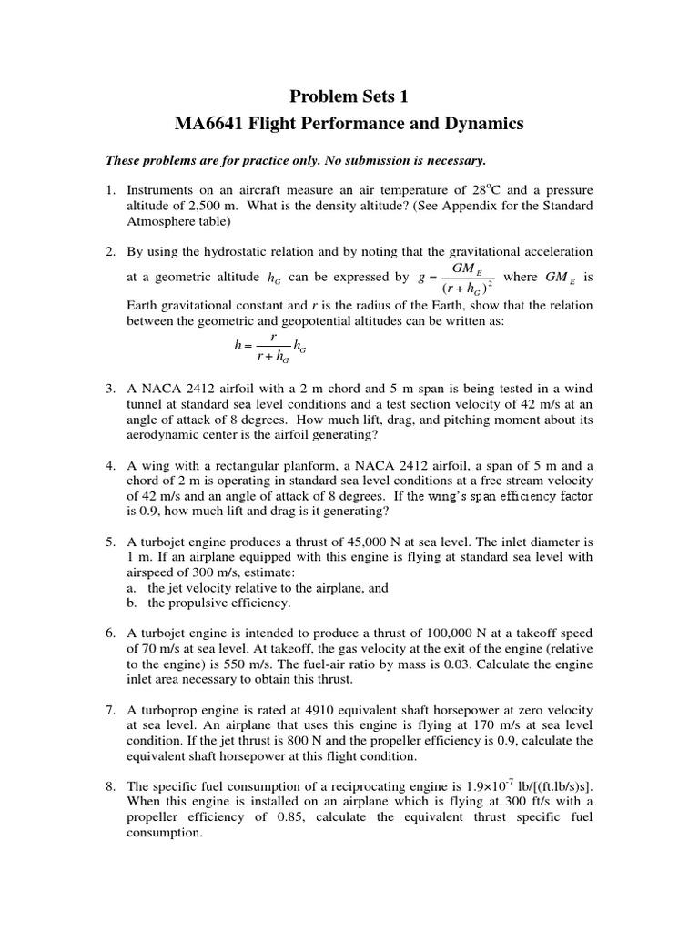 flight performance | Engines | Thrust