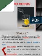Gravimetric Methods