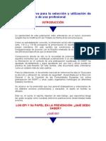 Guía orientativa para la selección y utilización de CALZADO