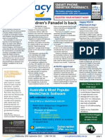 Pharmacy Daily for Wed 25 Sep 2013 - Children\'s Panadol is back, Happy World Pharmacist Day, SHPA pharmacy honours, Health