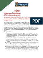 com0371 - 021005 Impulsarán proyectos carreteros por 2,700 millones de pesos