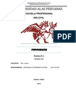 Informe de TOPOGRAFIA Teodolito