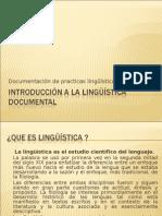 Introducción a la lingüística documental