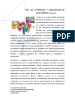 Diferencias Entre Los Aprendices y Necesidades de Aprendizaje (Resumen)