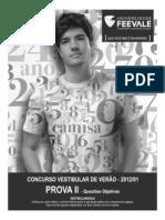 Feevale 2012 1 Prova Completa c Redacao c Gabarito