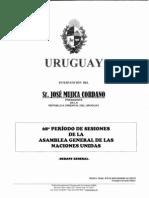 Discurso de José Mujica ante la Asamblea General de la ONU