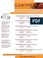 CemNet Training Schedule 2013