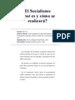 El Socialismo ¿Qué es y cómo se realizará.doc