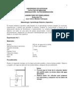 Laboratorio de Osmolaridad 2013-2