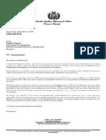 Carta Gobernador Debate Hidroelectricas