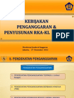 Kebijakan Penganggaran Amp Penyusunan RKA-KL TA 2013