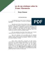 Reflexiones De Un Cristiano Sobre La Francmasoneria.DOC