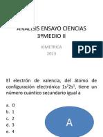 ANALISIS ENSAYO CIENCIAS 3ºMEDIO II