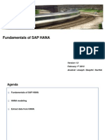 Fundamentals of SAP HANA the begining