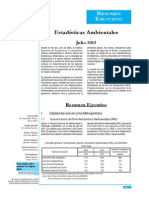 Estadisticas Ambientales Julio 2013
