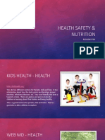 health saftey  nutrition