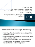 Chapter 14 Beverage Receiving, Storing, And Issuing Control