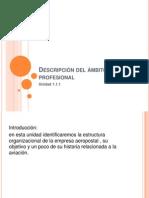 Descripción del ámbito profesional